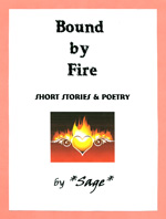 Image of front cover: 'Bound by Fire' by *Sage*